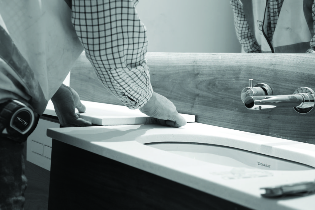 Artisans of Devizes | Installing a bespoke stone vanity unit worktop